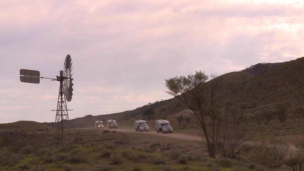 Flinders Ranges caravan video