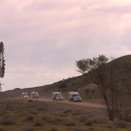 Flinders Ranges caravan video