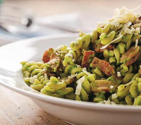 Easy recipes for caravanners Green Pea Carbonara