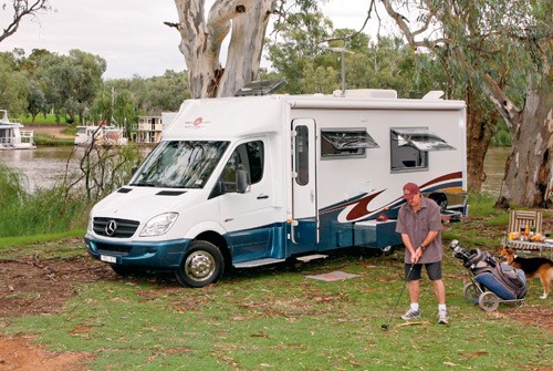 """The Wirraway Motor Homes 260SL. The """"SL"""" stands for """"slide out""""."""