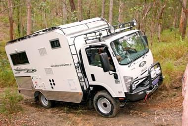 SLR Caravans Adventurer 4X4 motorhome heading off road