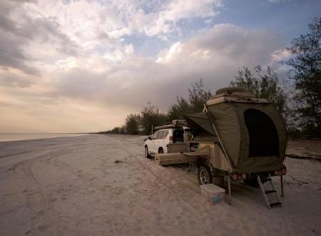 Conqueror Australia's UEV 360 camper trailer.