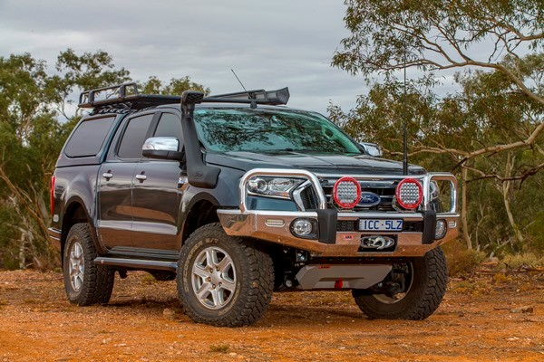 A new ARB bullbar on the Ford Ranger 4WD.