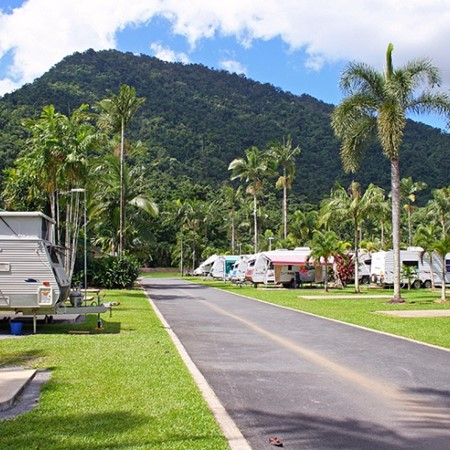 Low-cost caravan parks tend to use less energy and water than more luxurious locations.