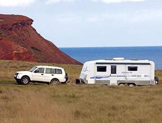 caravan and tow vehicle