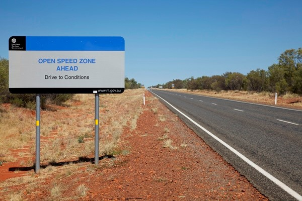 The NT's open speed limit zone has been extended.
