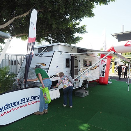 Showgoers were treated to a range of the latest model RVs.