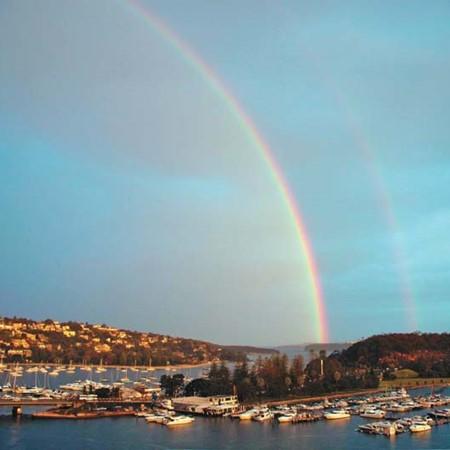 Rainbow at d'Albora Marina, The Spit, NSW.