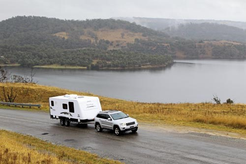 The Jayco Sterling Outback 21.65-7 caravan is the company's flagship model, with some additional off