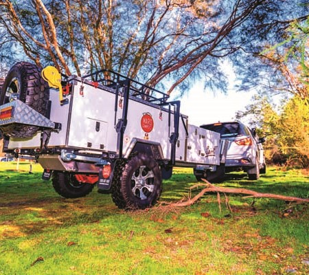 The Mars Spirit entry-level forward fold camper has the spirit of a much more adventurous trailer.