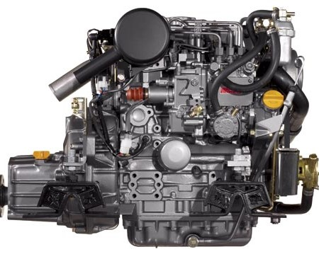 The Yanmar 3YM30 marine diesel engine is the most powerful three-cylinder indirect-injection marine
