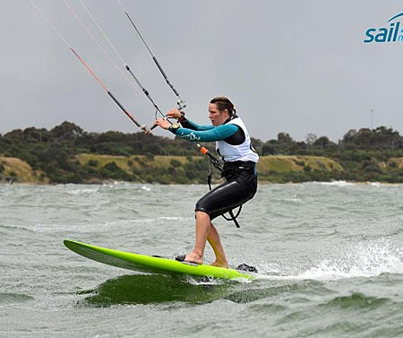 Kiteboards revel in tough conditions