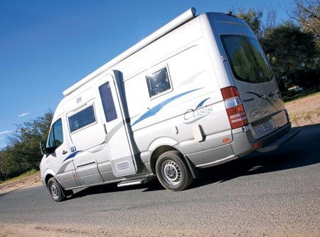 The Paradise Oasis Deluxe is converted from a Mercedes-Benz Sprinter.