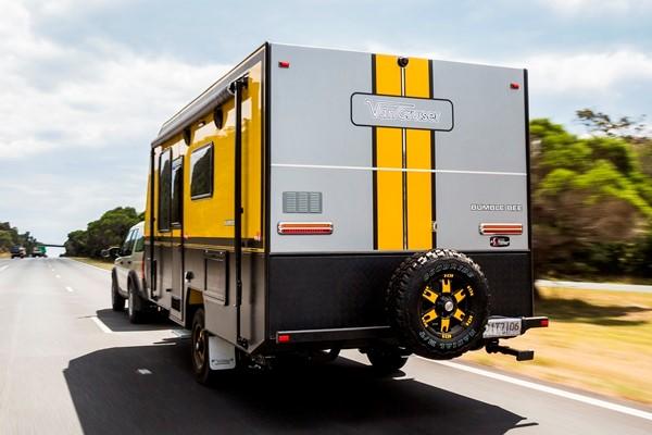 The Van Cruiser Bumble Bee is the first van in Australia to have Dexter Sway Control as standard.