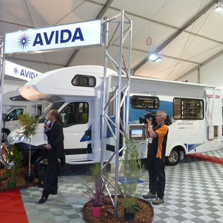 Avida —until recently known as Winnebago Australia — presents to the media at the Caravan, Camping &