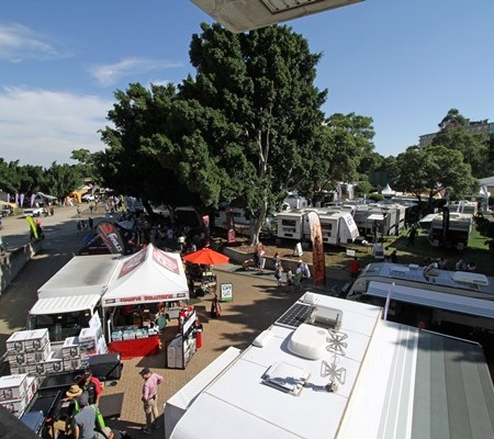 Camper trailers were a popular attraction at the Sydney show.