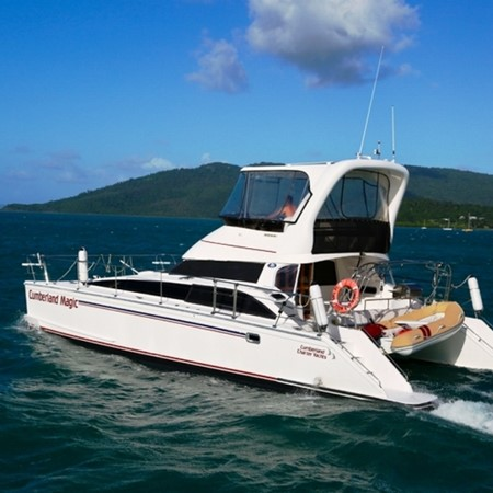 The Perry 445 catamaran is just one of many new products on display at the 2014 Mackay Boat Show.
