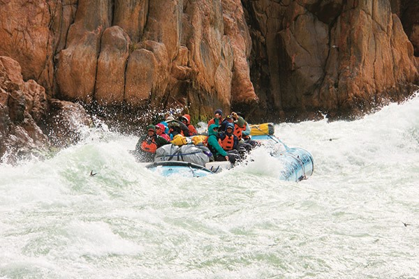 I've just spent eight days rafting the Colorado River through the Grand Canyon in the USA. It was, i