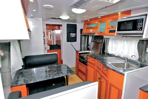Majestic Caravans Trailblazer interior lounge