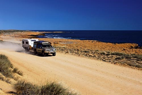 The road north from Blowholes, WA.