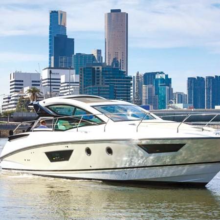 Beneteau GT40 luxury motor yacht.