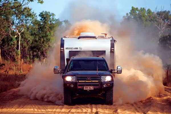Clearview towing mirrors on a 4WD in Cape York at Race to the Cape