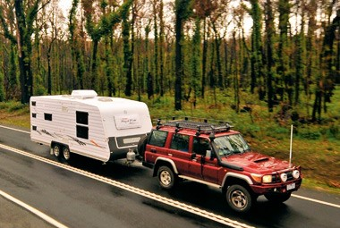 Royal Flair Caravans Family Flair may not have a bathroom but it redeems itself with structural stre