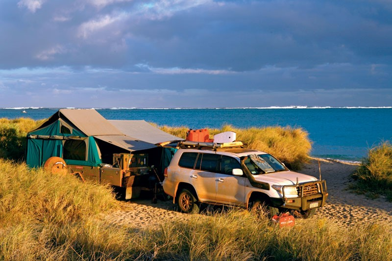 Remote camping at Ningaloo Station, WA