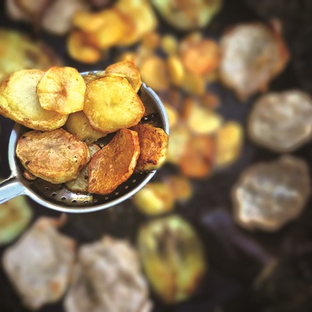 Pan-fried potatoes (image supplied)
