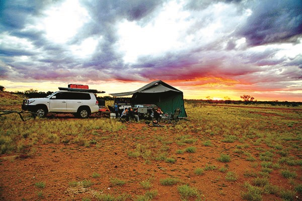 Desert camping with kids