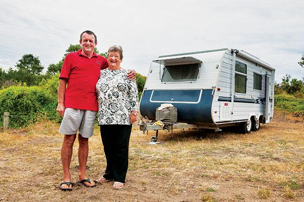 Canunda Coast9 Camped in Canunda National Park we meet real life gypies Helen Grose husband Paul on