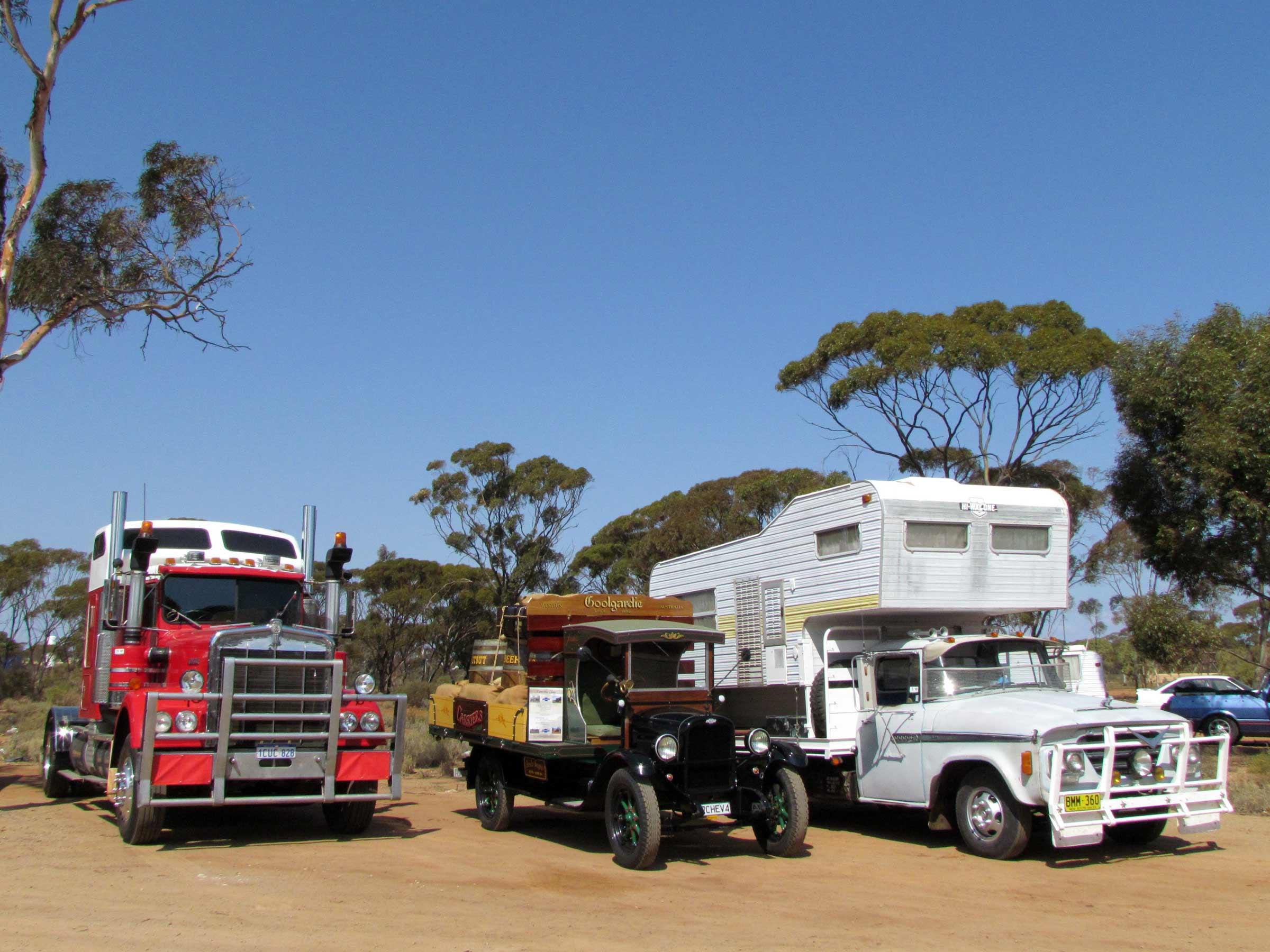 Vintage vehicles truck show