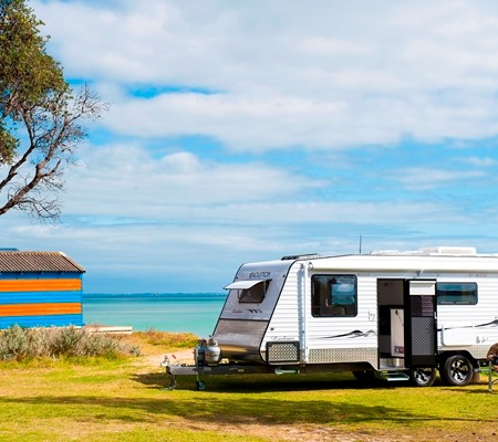 The production of new RVs, such as this Evolution Luxliner caravan, has continued to rise.
