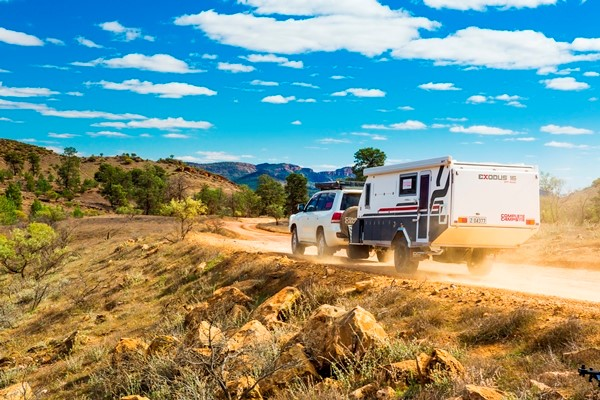 The new Complete Campsite Exodus 16 hybrid in the Flinders Ranges.