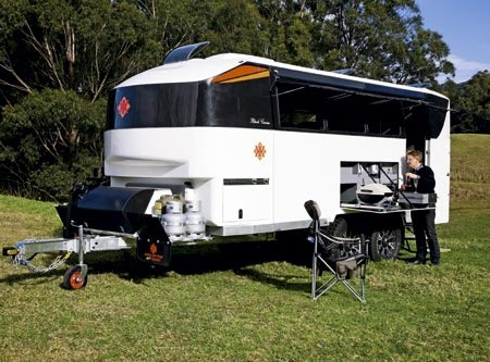 Is it a motorhome? A fifth wheeler? Depending on which angle you look at the Black Caviar you'd be f