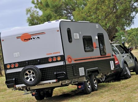 Nova Caravans challenges you to get tough and dirty with its 2013-model Terra Sportz.