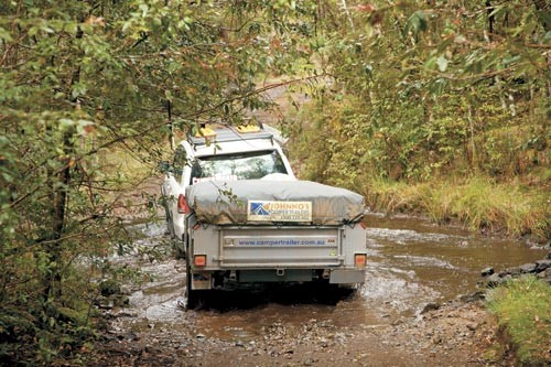 The Johnno's Camper Trailers Dreamtime Off Road is an entry-level model that's built for rough roads