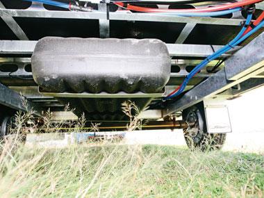 Sunliner Carnie caravan suspension chasis