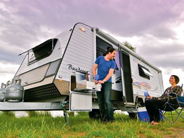 Aussie Wide Caravans Bunderra exterior all set up