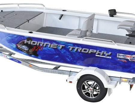 The Quintrex 420 Hornet Trophy  is more spacious than its predecessor, the 400 Hornet Trophy.