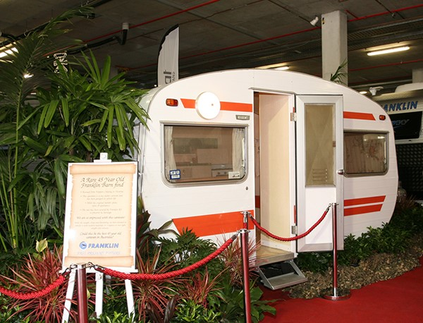 A refurbished Franklin van on display at the Brisbane Caravan Show