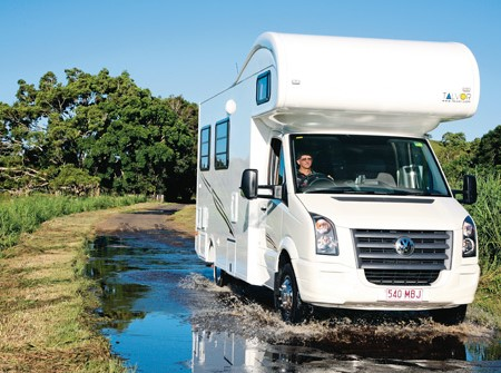 The Talvor MacLeayn motorhome wandering between Brisbane and Ballina.
