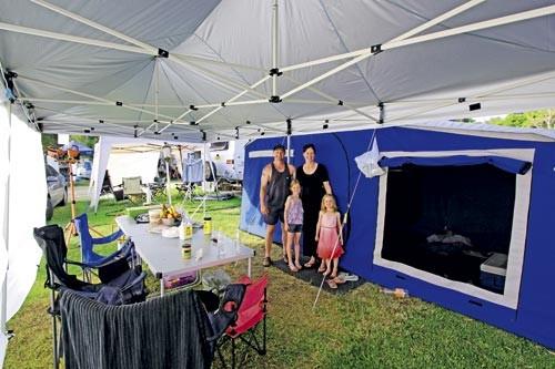 The Fentons' camping setup
