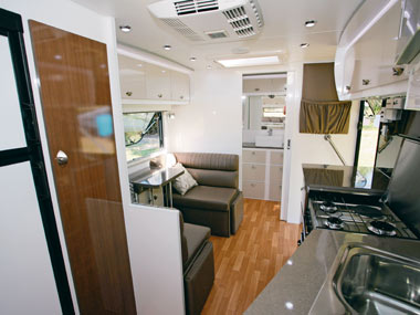 Lotus Caravans Freelander interior