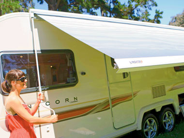 Bailey Caravans Unicorn Barcelona awning out