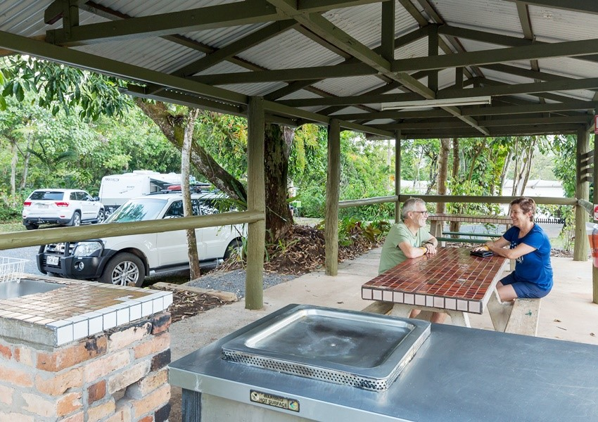 Camping is included in the ticket price at the Paronella Park tourist site for those who book ahead.