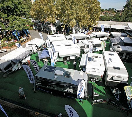 A huge variety of vans, motorhomes and campers were on display at the Sydney Show.