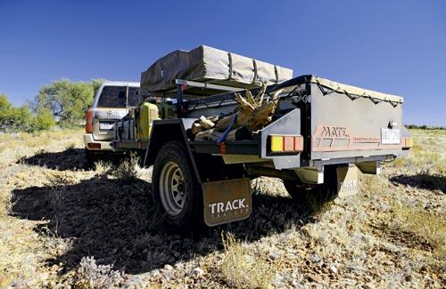 TRACK TRAILER MATE CAMPER TRAILER rear