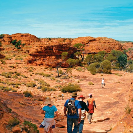 Wandering through Kings Canyon, Northern Territory.