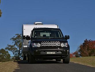 towing vehicle and caravan